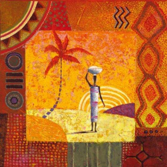 Gravura Mulher Africana para Quadros 70x70cm