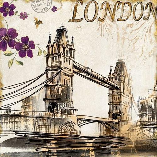 Quadro Tela Decorativa Londres Tower Bridge 60x60cm