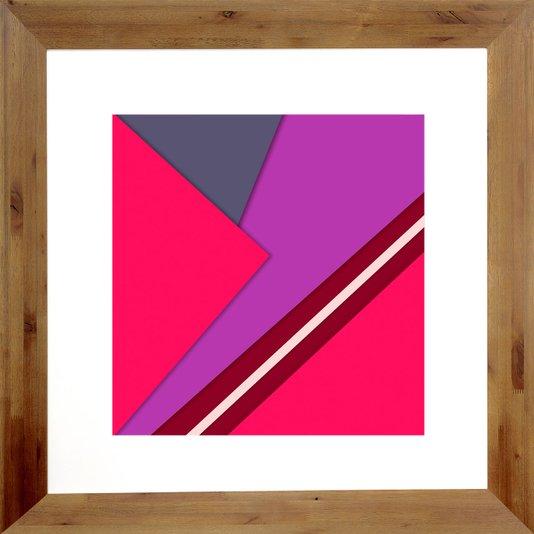 Quadro Abstrato Decor com Moldura Rústica 82x82cm