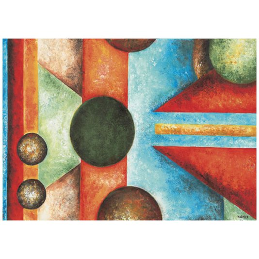 Gravura Abstrata para Quadros Multcolorida Bolas 70x50cm