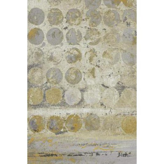 Gravura Abstrata para Quadros Pontos em Ouro I de Patricia Pinto 30x45cm