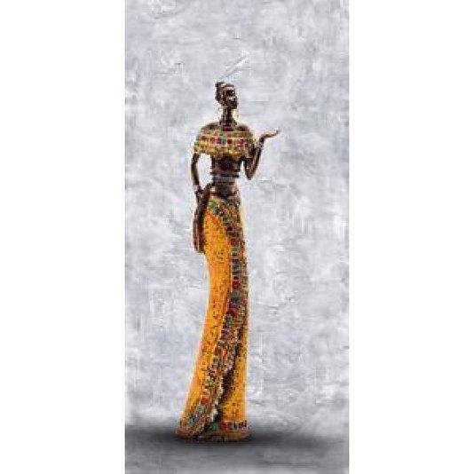 Gravura Africana para Quadros Mulher Cultura Africana 23x49cm