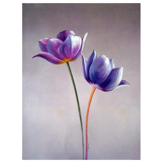 Gravura em Alto Brilho para Quadros Floral 50x70cm