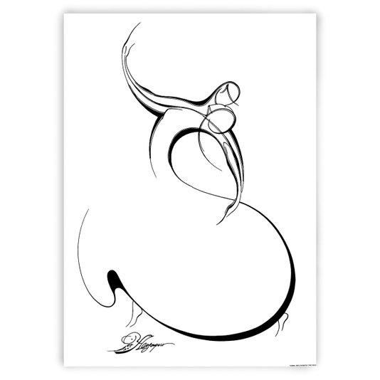 Gravura Figurativa para Quadros Bailarina I 50x70cm