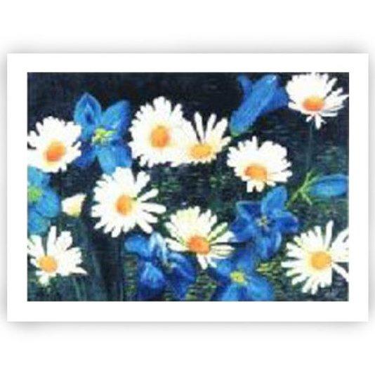 Gravura Floral para Quadros Margaridas 80x60cm