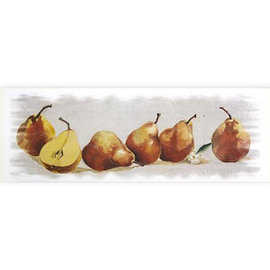 Gravura para Cozinha Tema Frutas Pêra 70x25cm