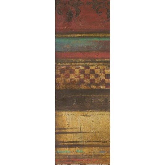 Gravura para Quadros Abstrato Vermelho Eclético 15x45cm