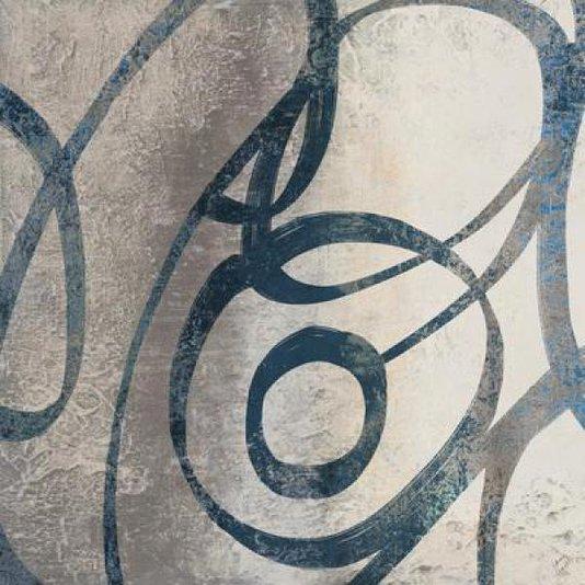 Gravura para Quadros Abstrata Arte de Lanie Loreth Anéis Orgânicos 30x30cm