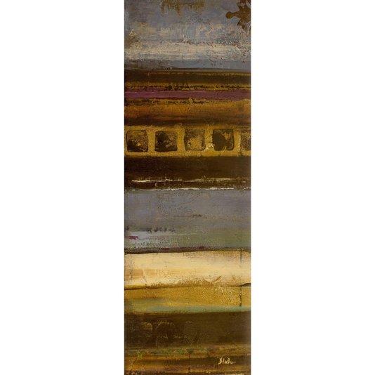 Gravura para Quadros Abstrato Azul Eclético 30x90cm