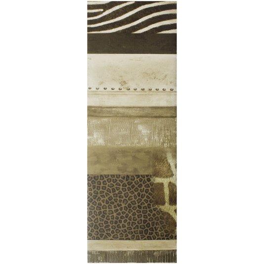 Gravura para Quadros Abstrato Pele de Animais Africa 30x90cm