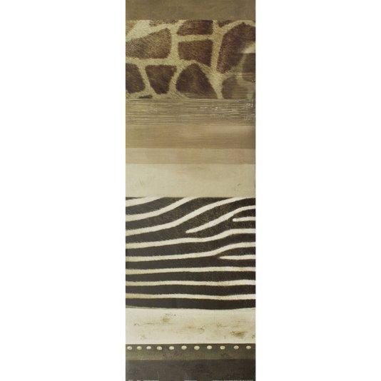 Gravura para Quadros Abstrato Pele de Animais Africa II 30x90cm