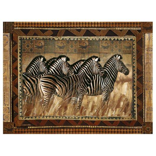 Gravura para Quadros Africana Manada de Zebras 50x40cm
