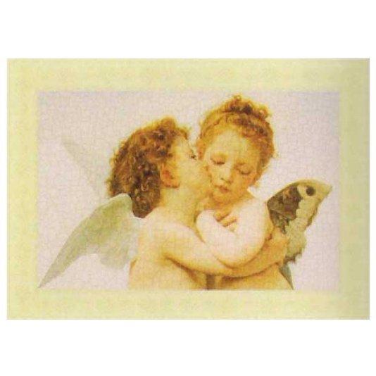 Gravura para Quadros Anjos Beijo No Rosto 35x25cm
