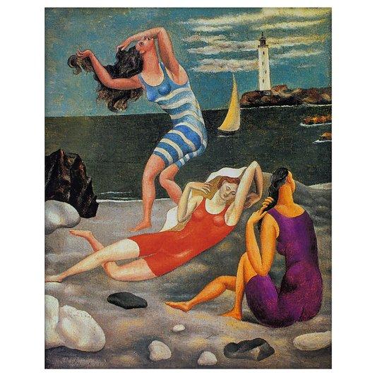 Gravura para Quadros Arte A Banhista de Pablo Picasso 54x68cm