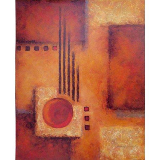 Gravura para Quadros Arte Abstrata Amarela e Vermelha 40x50cm