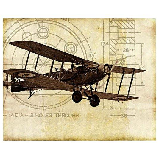 Gravura para Quadros Avião Antigo Monomotor D788 35x28cm