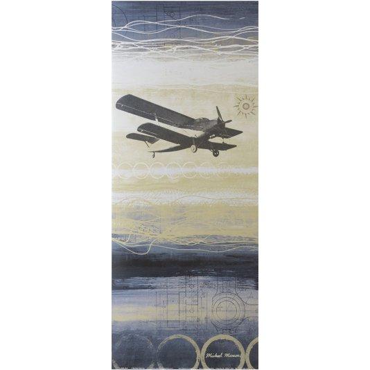 Gravura para Quadros Avião - Através do Vento 20x50cm