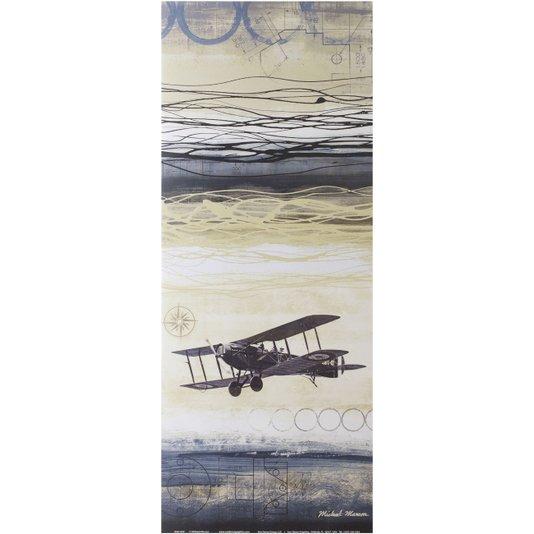 Gravura para Quadros Avião Através do Vento II - 20x50cm