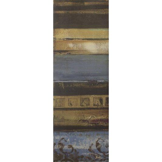 Gravura para Quadros Azul Eclético Abstrato 30x90cm