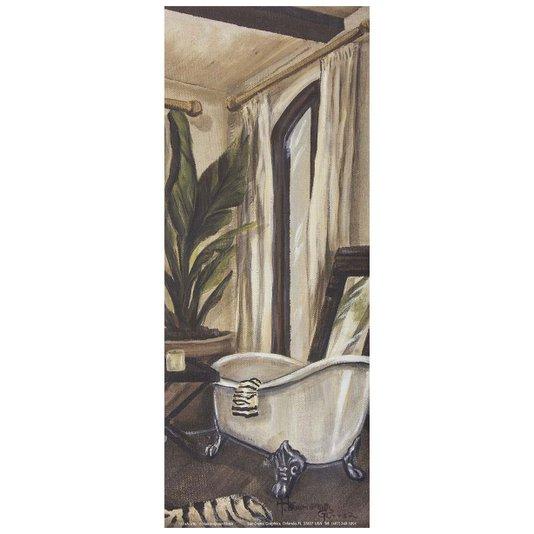 Gravura para Quadros Banheiro Hollywood 10x25cm