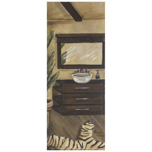 Gravura para Quadros Banheiro Hollywood II - 10x25cm