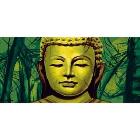 Gravura para Quadros Buda Fundo Verde 70x33cm
