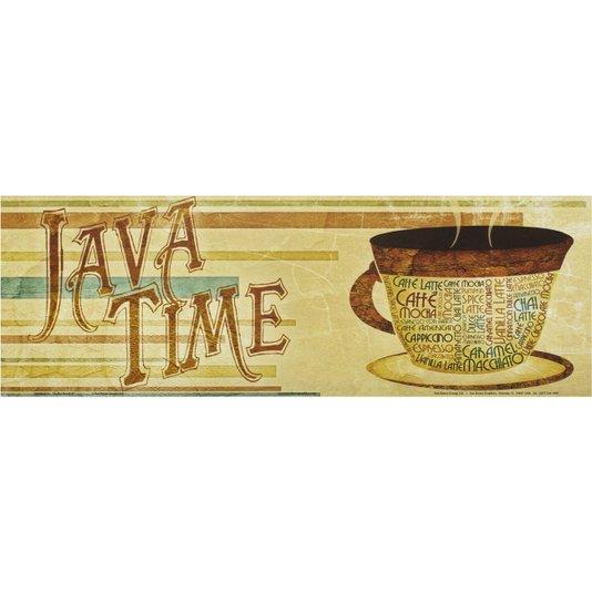 Gravura para Quadros Café Java Time 45x15cm