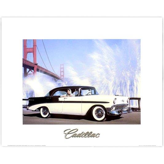 Gravura para Quadros Carro Clássico Cadillac 50x40cm