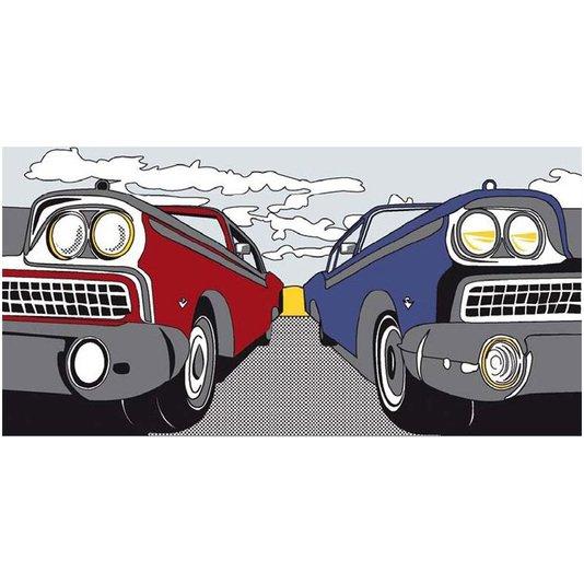 Gravura para Quadros Carros American Highway 100x50cm