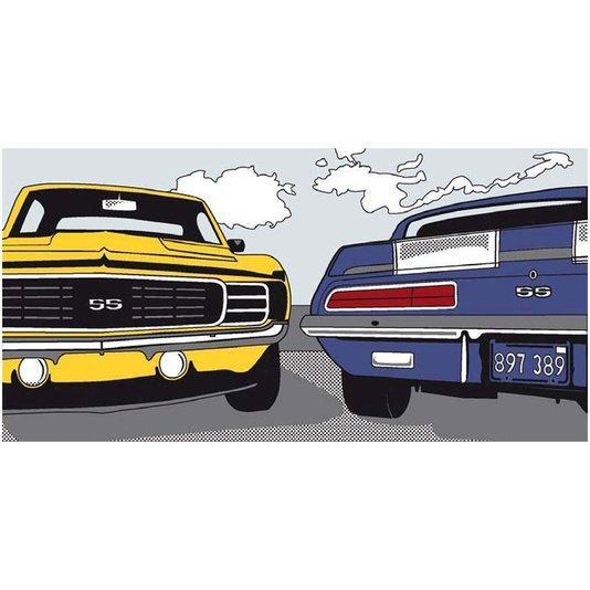 Gravura para Quadros Carros Camaro SS American Highway 100x50cm