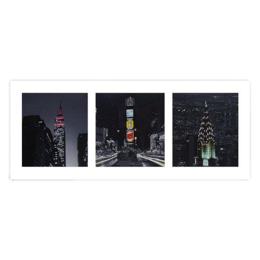 Gravura para Quadros Cidades Nova York de Noite 50x20cm