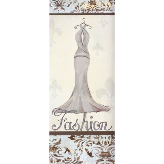 Gravura para Quadros Closet Vestido Fashion 20x50cm