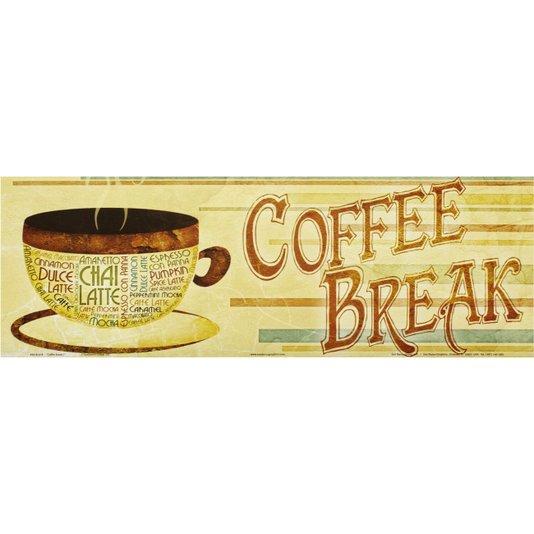 Gravura para Quadros Coffee Break 45x15cm