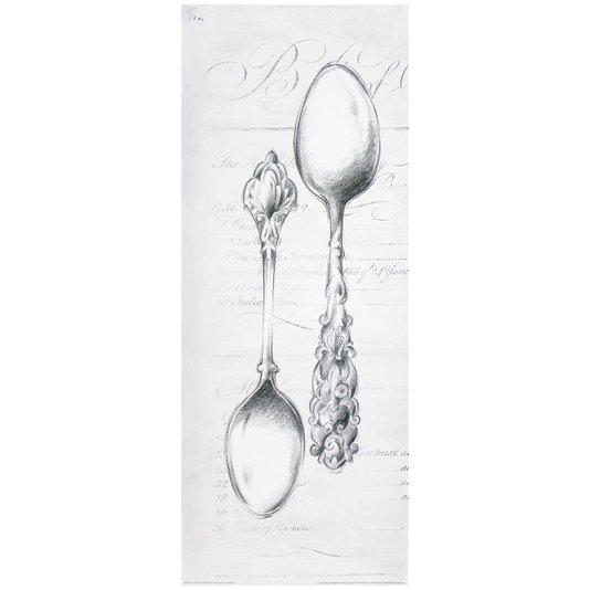 Gravura para Quadros Colheres de Prata 20x50cm