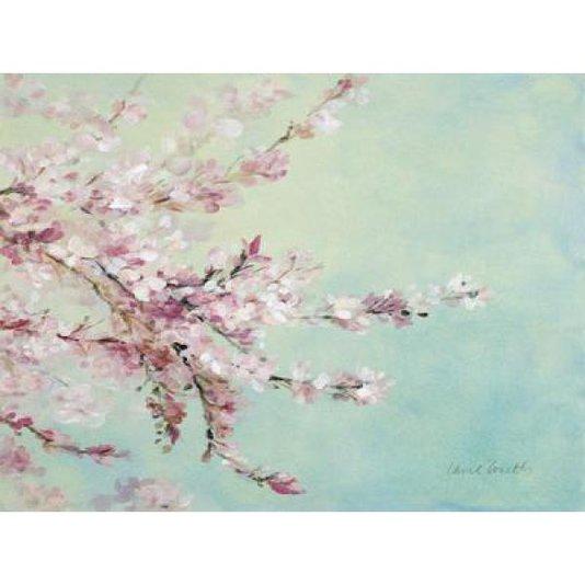 Gravura para Quadros Colorida Flores de Cerejeira 90x60cm
