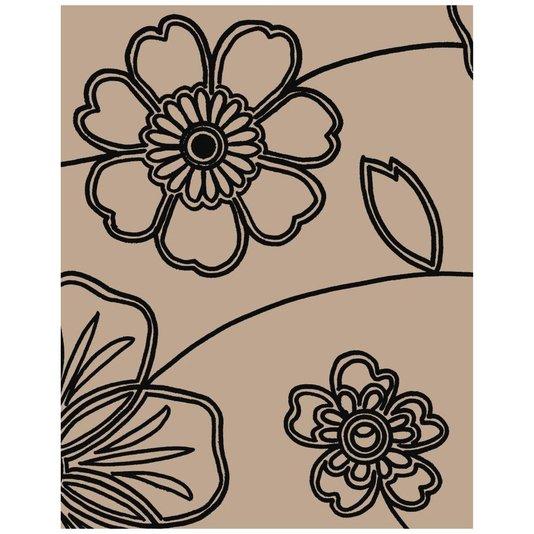 Gravura para Quadros Desenho de Flores 20x25cm