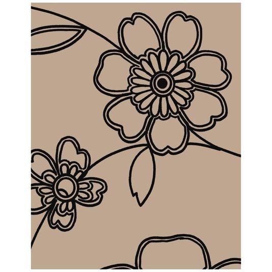 Gravura para Quadros Desenho de Flores II - 20x25cm
