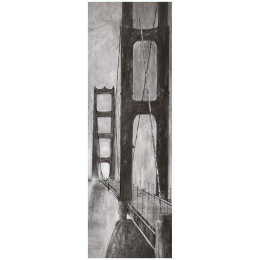 Gravura para Quadros em Preto e Branco Ponte Golden Gate 30x90cm