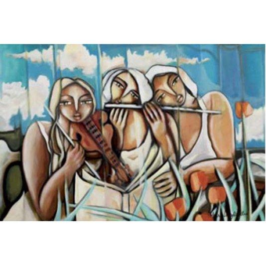 Gravura para Quadros Figurativa Três Mulheres 90x60cm