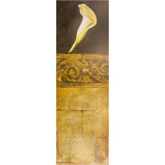 Gravura para Quadros Flor Copo de Leite O Toque Perfeito 30x90cm
