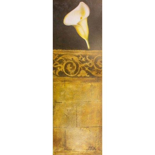 Gravura para Quadros Flor Copo de Leite O Toque Perfeito Ii - 30x90cm
