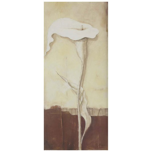 Gravura para Quadros Flor Copo de Leite Pensamento de Amanhã 30x70cm