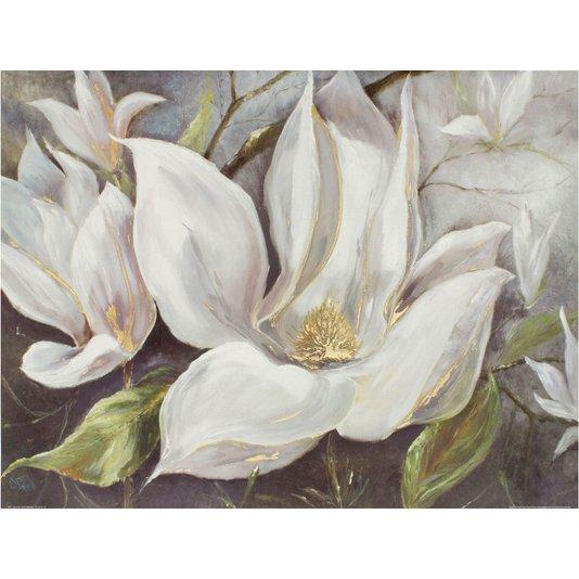 Gravura para Quadros Flor Magnólias Brancas 80x60cm