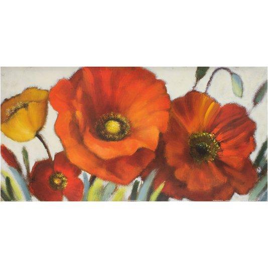 Gravura para Quadros Flor Papoulas 60x30cm