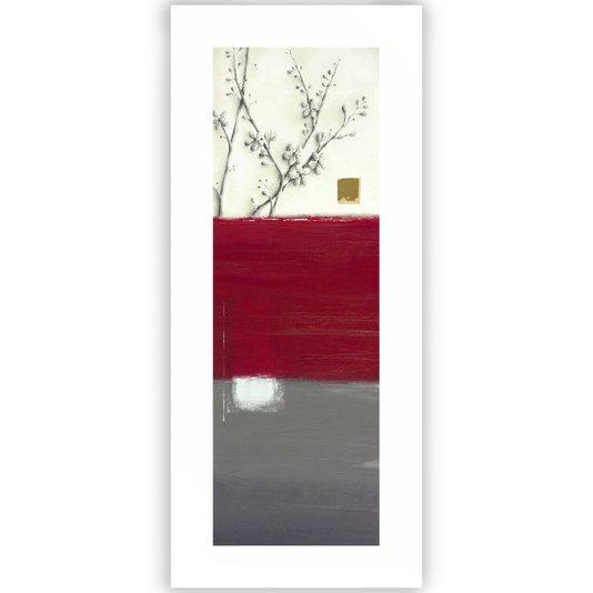 Gravura para Quadros Floral Abstrato 30x70cm