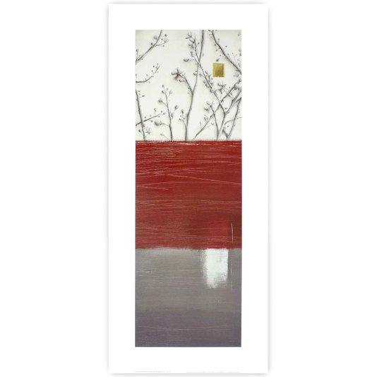 Gravura para Quadros Floral Abstrato II - 30x70cm