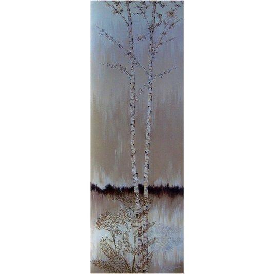 Gravura para Quadros Floral Árvores e Flores 30x90cm
