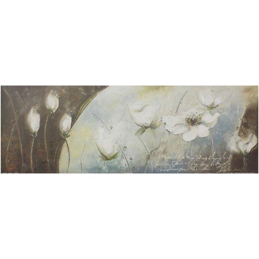 Gravura para Quadros Floral Jardim Mágico 90x30cm