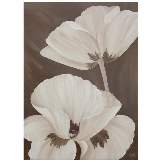 Gravura para Quadros - Floral Papoulas Brancas 50x70cm