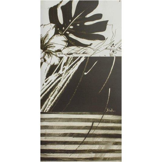 Gravura para Quadros Floral Preto e Branco II - 30x60cm